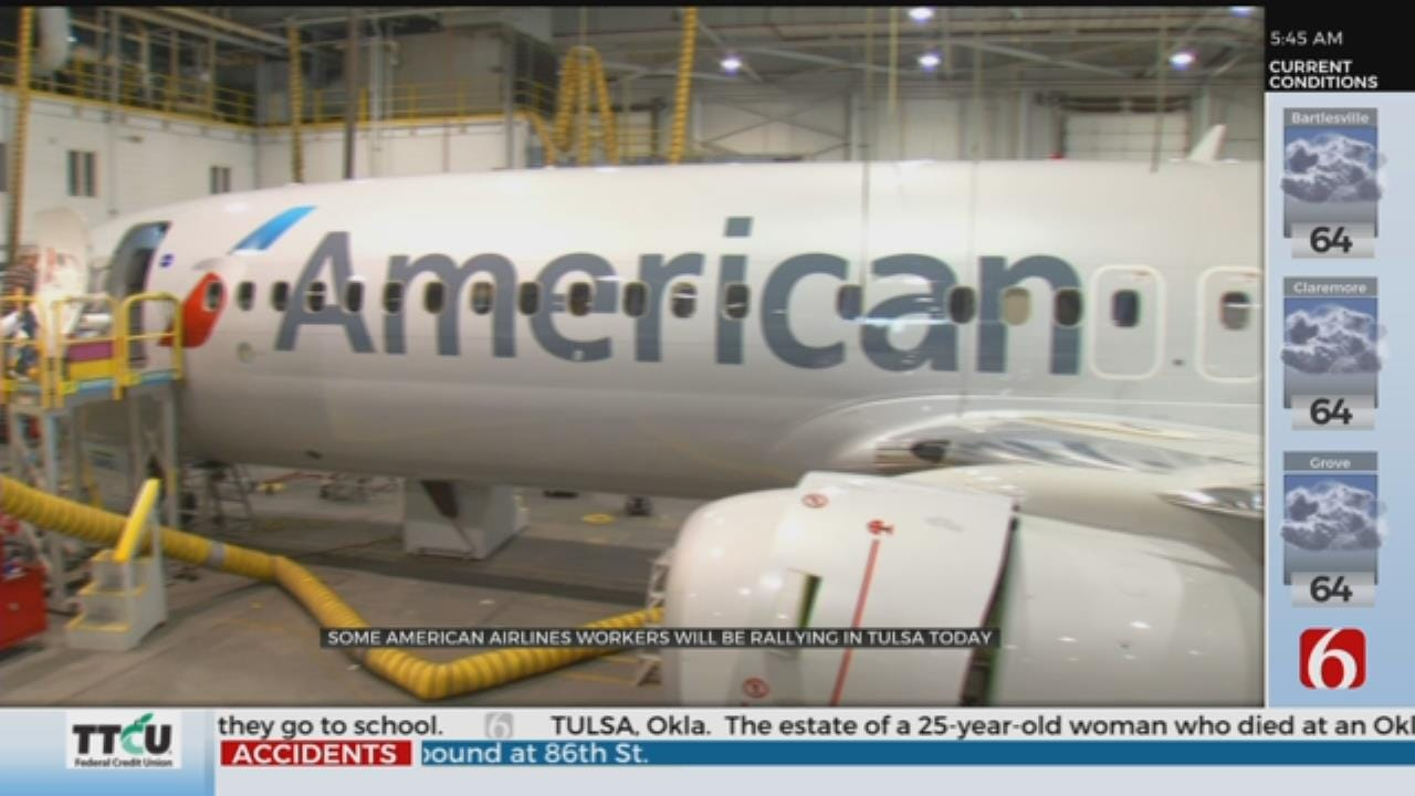 American Airlines Workers Hold Tulsa Rally