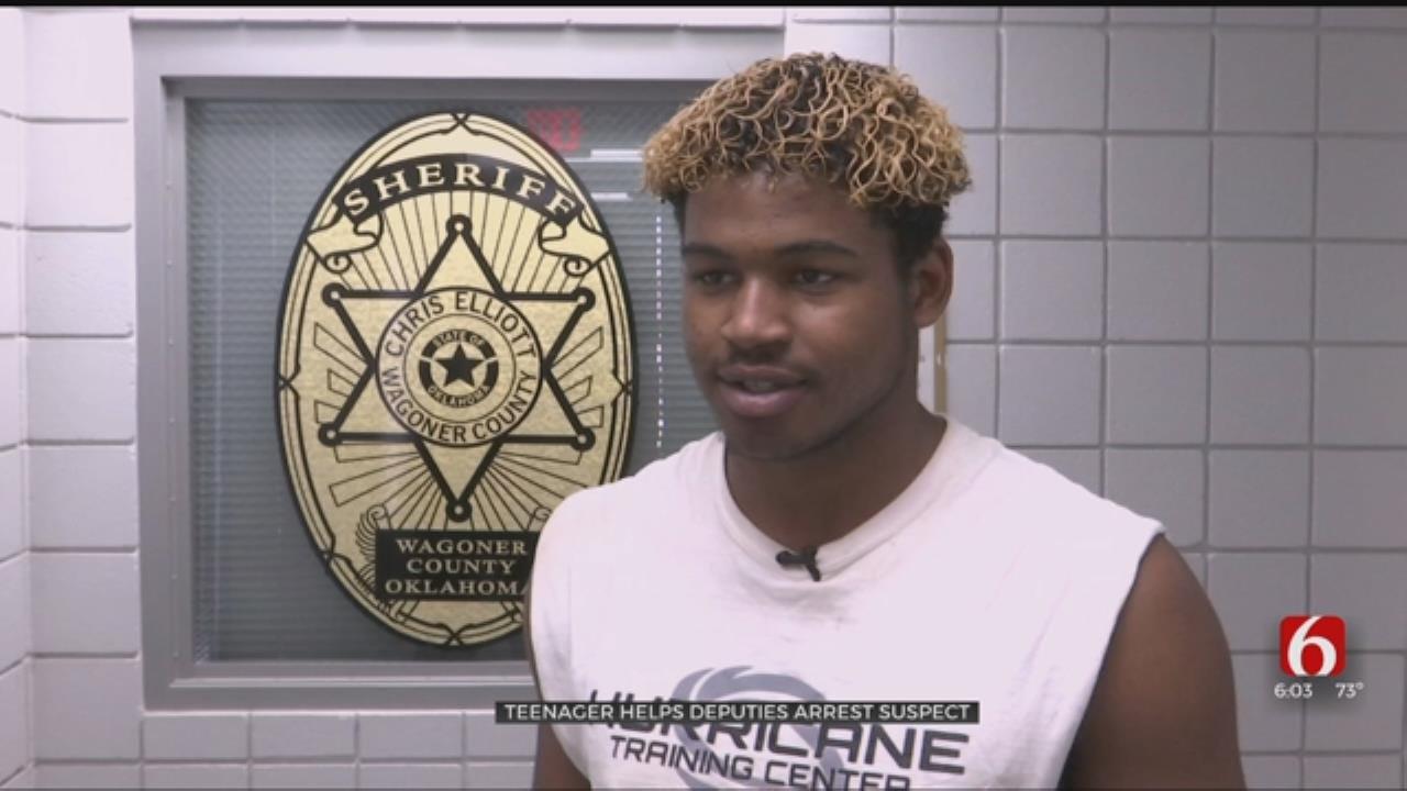 Wagoner County Teen Tackles Felon Running From Deputies