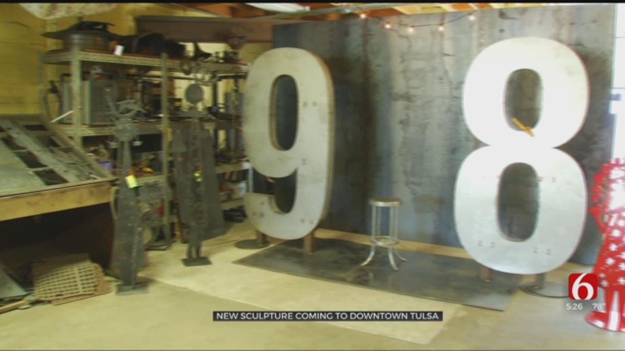 """New Downtown Tulsa Sculpture Lets Visitors """"Be The One"""""""