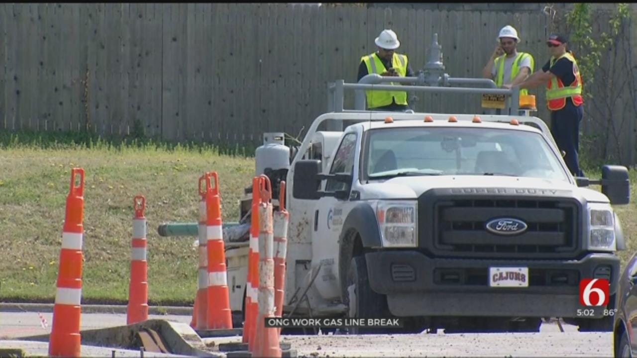 Contractor Hits Gas Line In Bartlesville