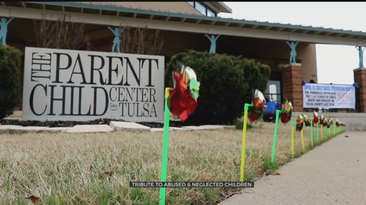 Pinwheels Honor Oklahoma Child Abuse Victims