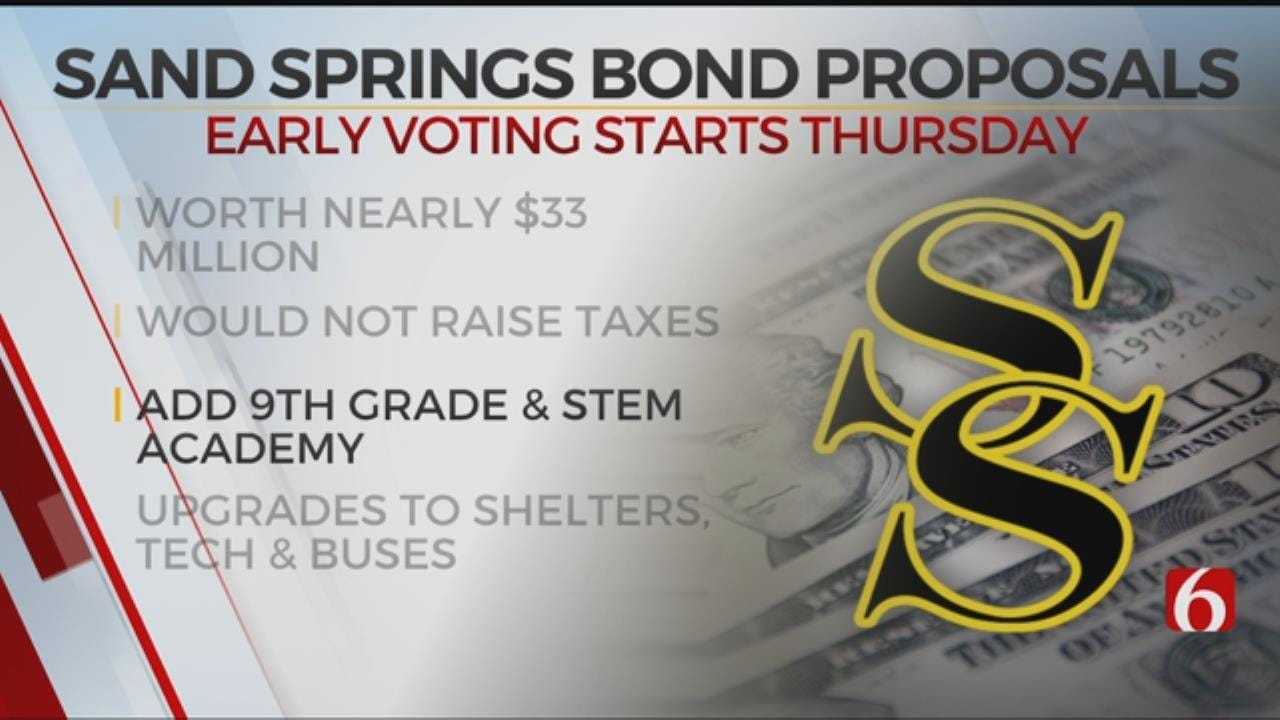 Early Voting For Sand Springs Bond Proposals Begins Thursday
