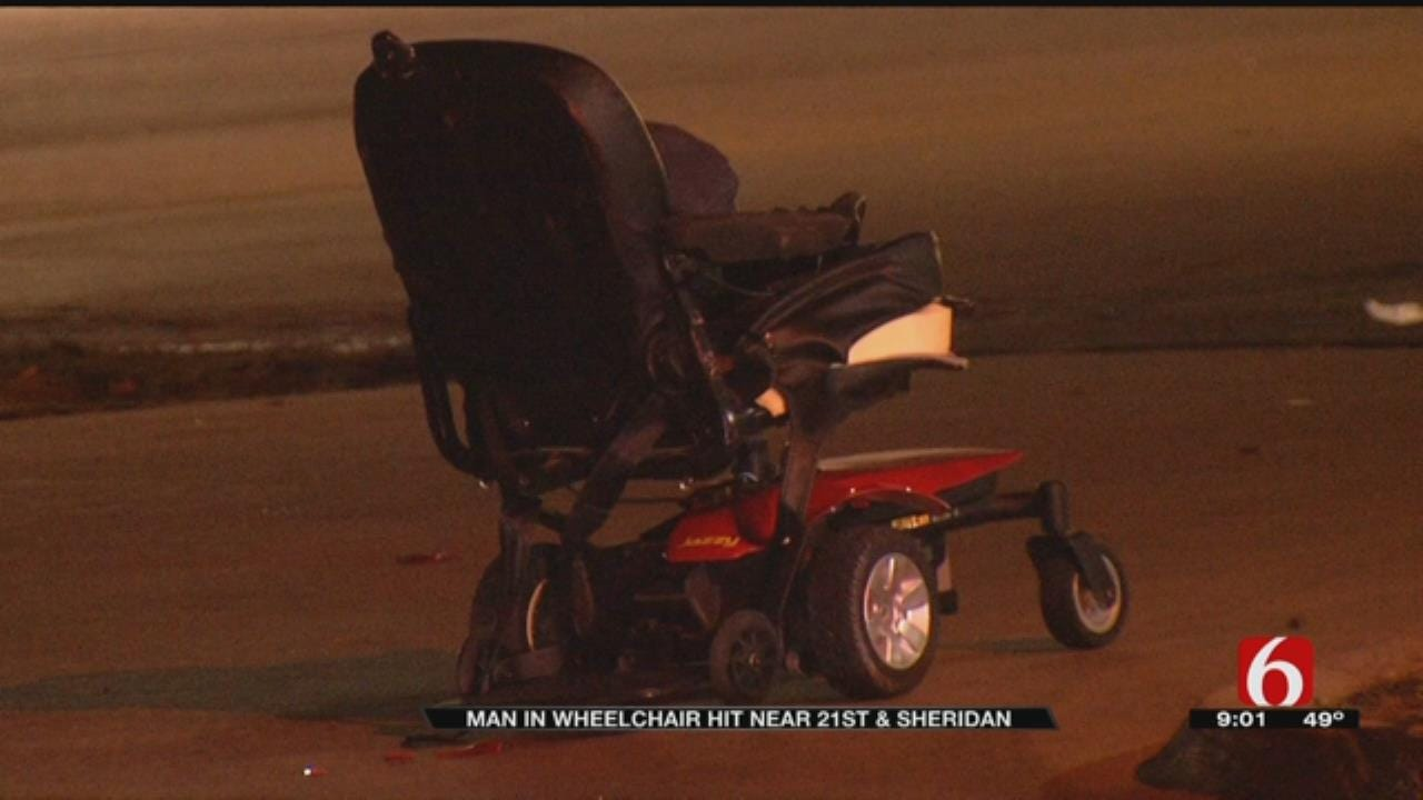 Tulsa Man Hospitalized After Being Struck Crossing The Street In Wheelchair