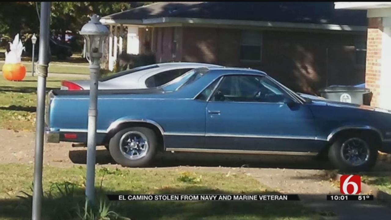 Oklahoma Veteran's Prized El Camino Stolen From Driveway
