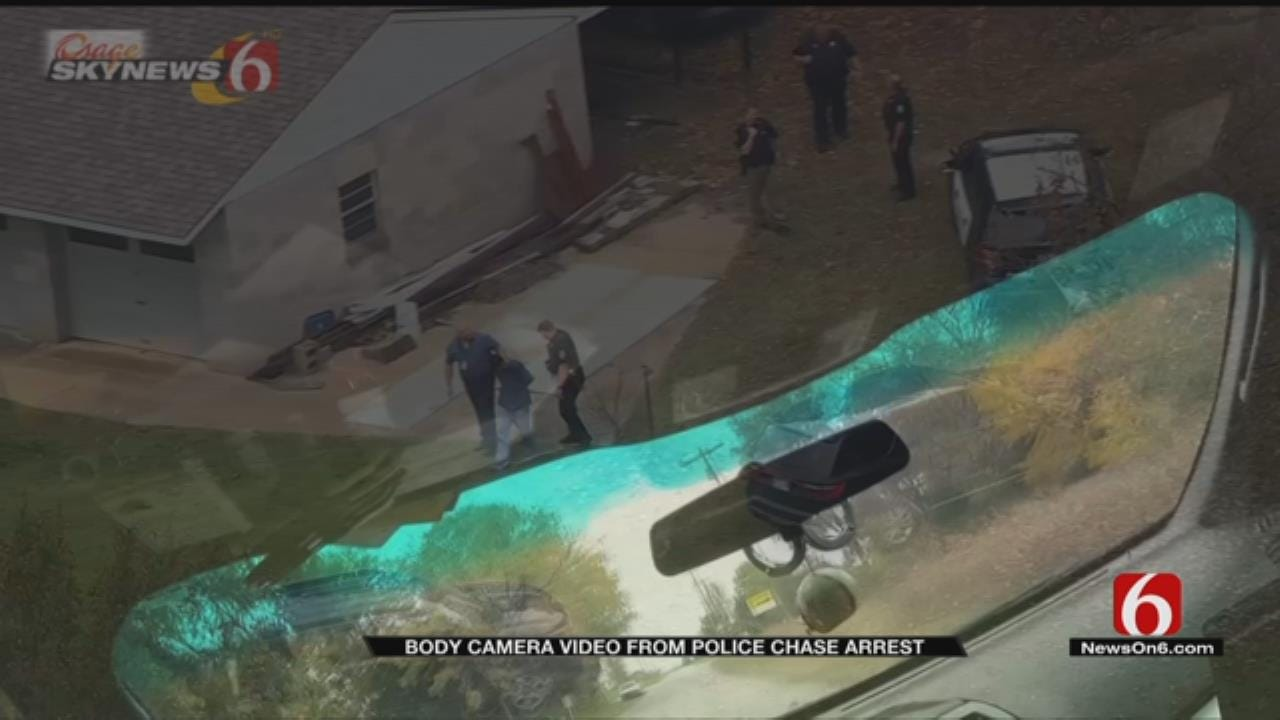 Body Cam Footage Released For Sand Springs Chase
