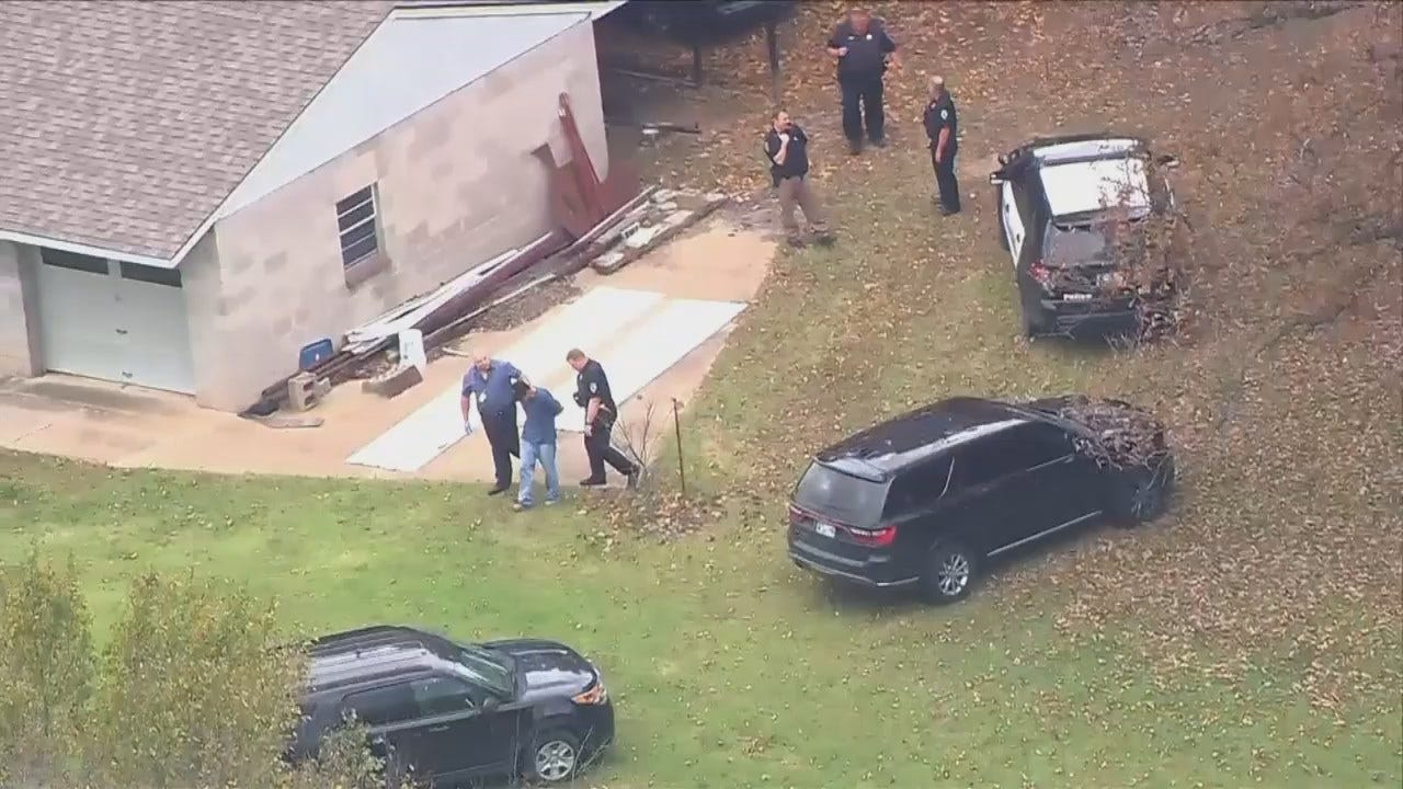 Osage SkyNews 6 HD: Arrest At End Of Sand Springs Police Chase