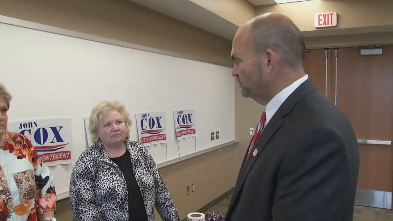 WEB EXTRA: Democrat Candidate For State School Superintendent Campaigns In Glenpool