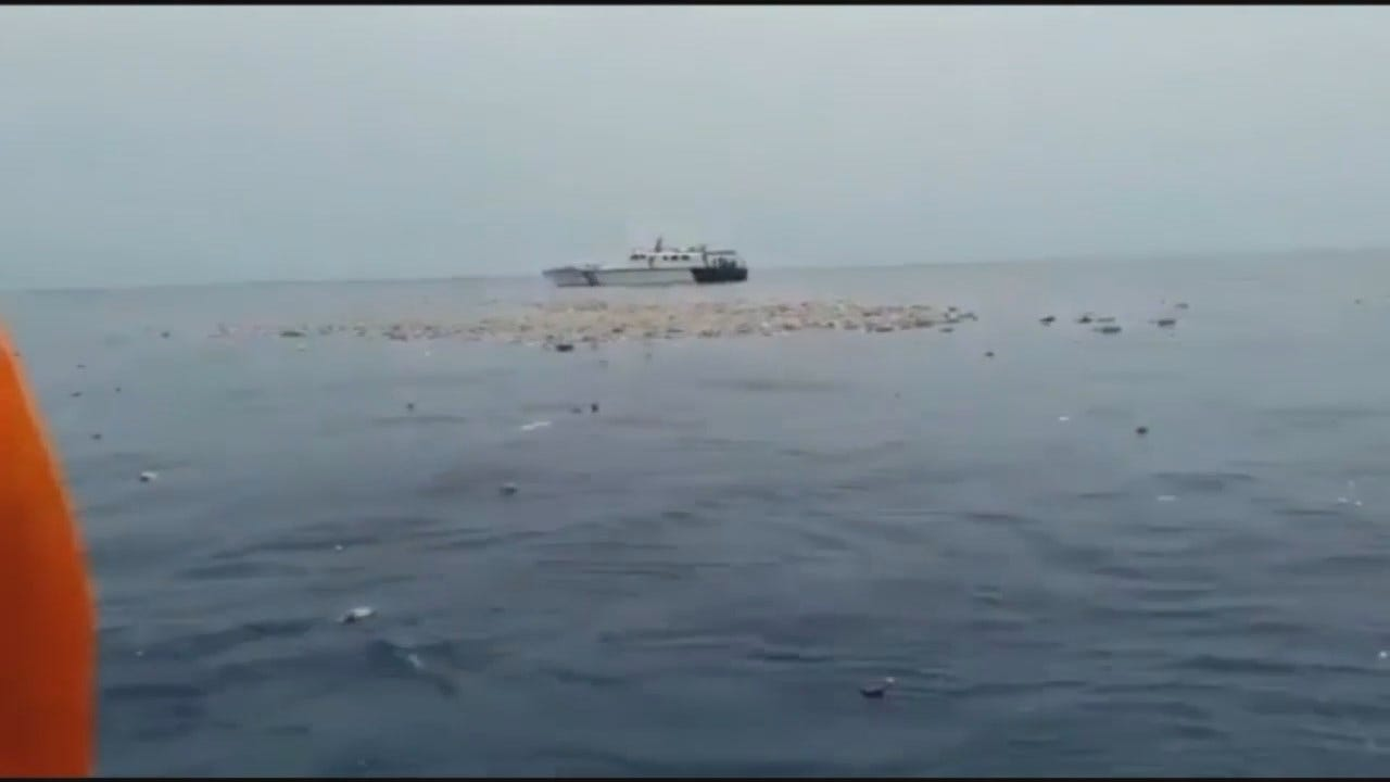WEB EXTRA: Video Of Indonesia Airliner Crash Wreckage