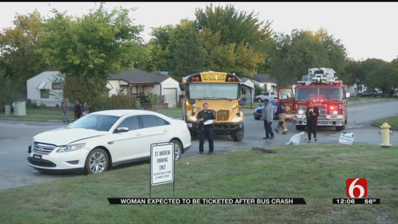 Driver Cited After Hitting Tulsa School Bus In No Passing Zone