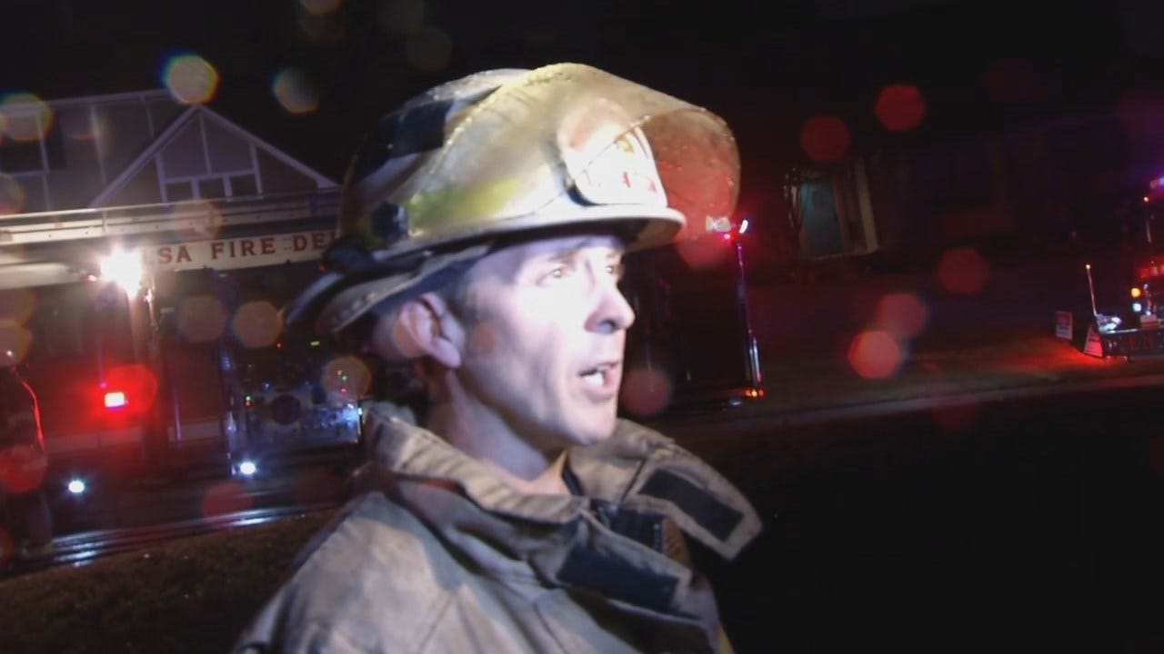 WEB EXTRA: Tulsa Fire District Chief Douglas Turner Talks About House Fire