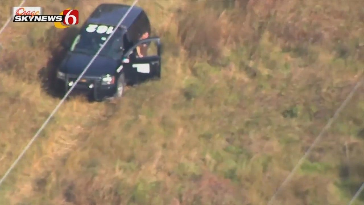 Osage SkyNews 6 HD Video Of Mayes County Manhunt