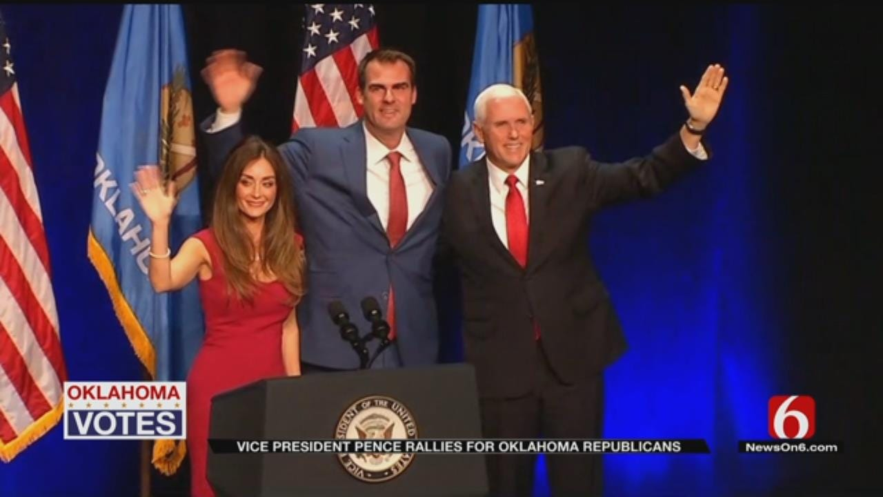 Vice President Mike Pence Speaks At Tulsa Rally For Kevin Stitt