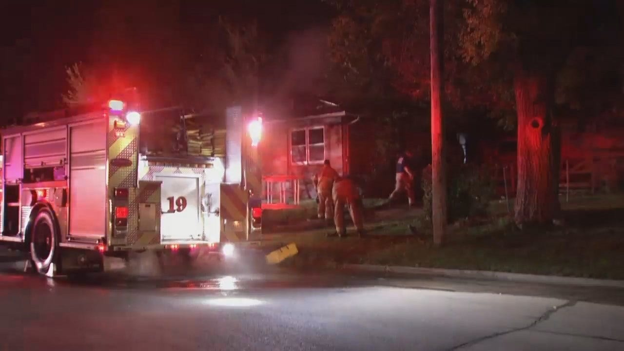 WEB EXTRA: Video From Scene Of Vacant Tulsa House Fire