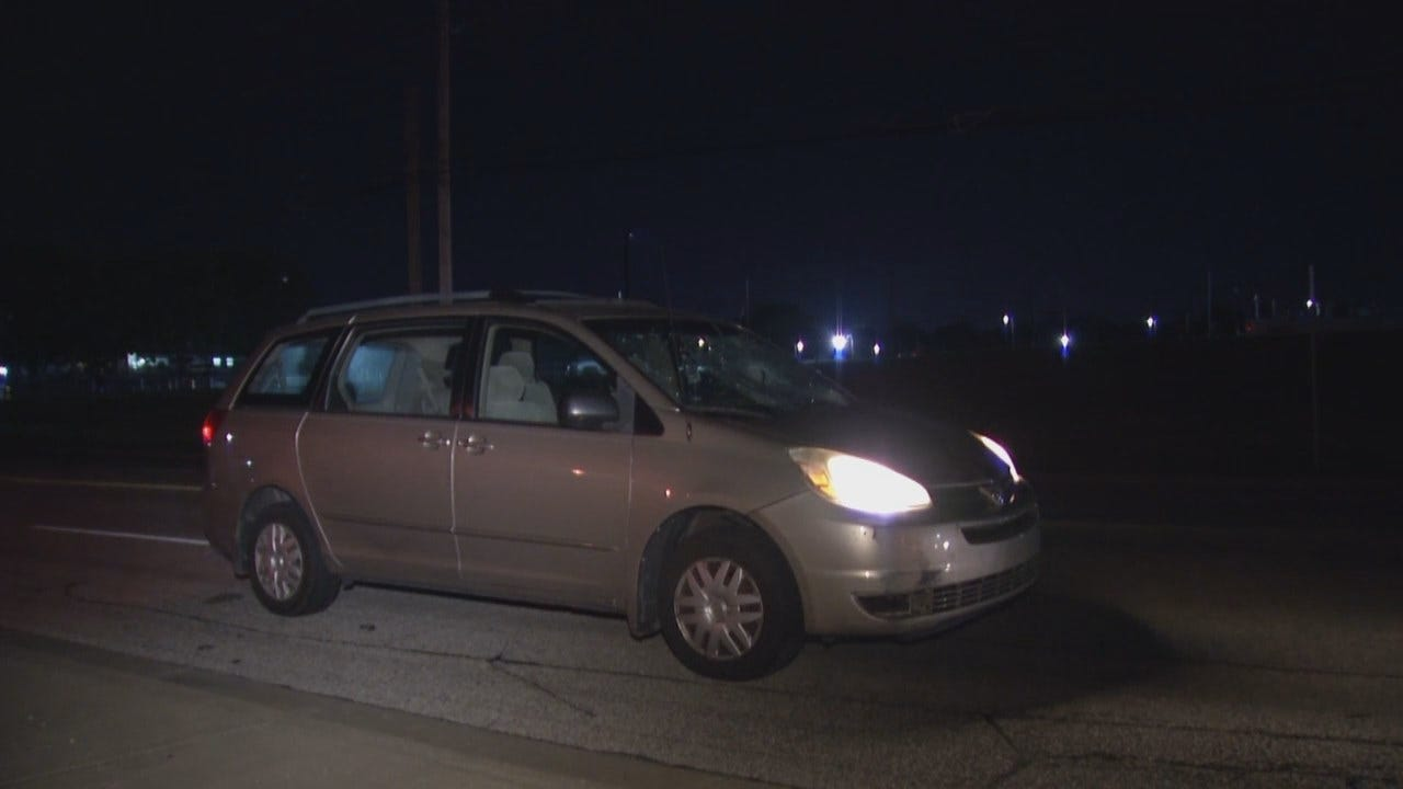 WEB EXTRA: Video From Scene Of Tulsa Crash Involving Pedestrian