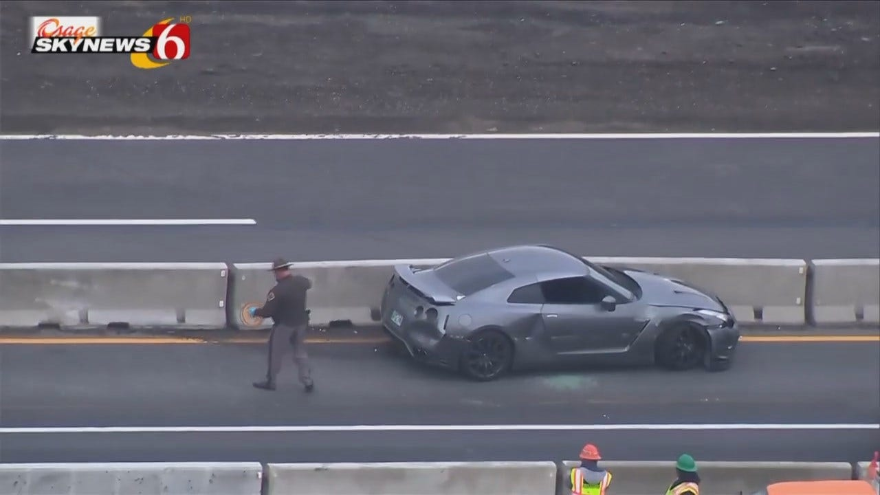 Osage SkyNews 6 HD: Stolen Nissan GT-R Wrecked On Turner Turnpike