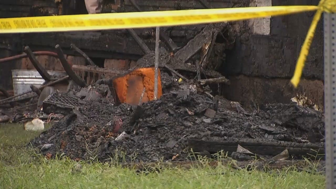 WEB EXTRA: Video From Scene Of Fatal Tulsa House Fire
