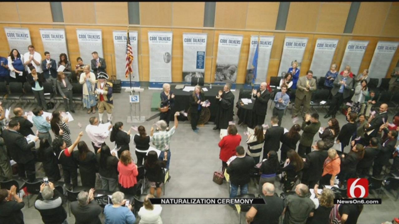 Thirty-Nine People Become U.S. Citizens At Tulsa Ceremony