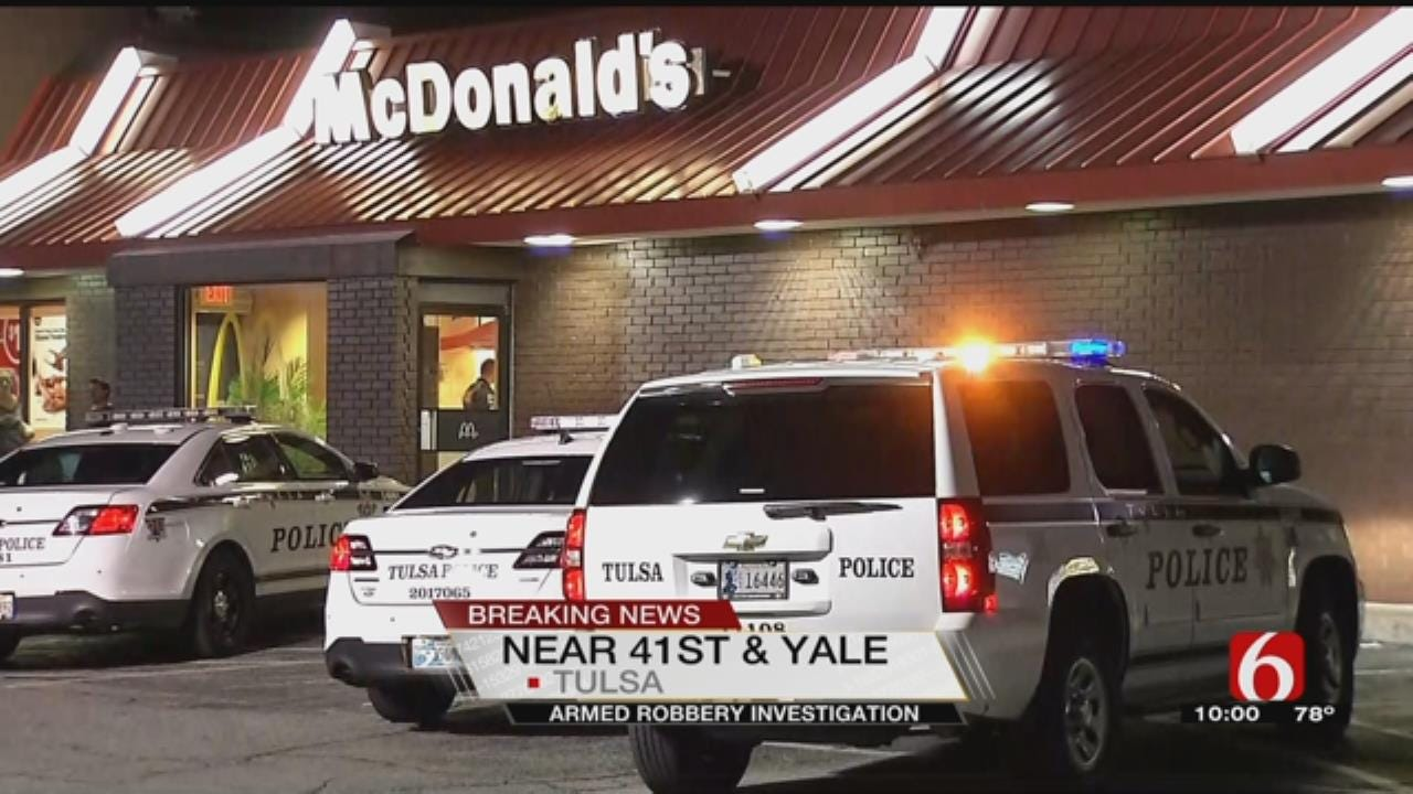 Armed Robber Hits Tulsa McDonald's