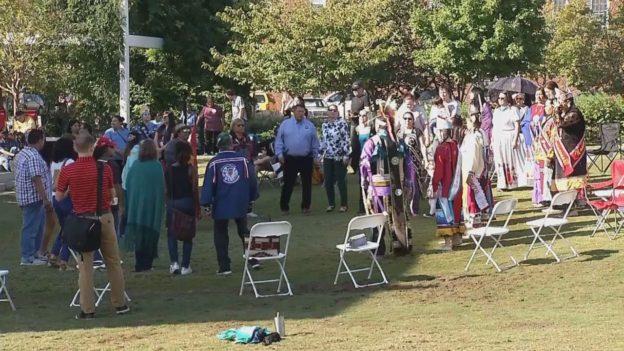 WEB EXTRA: Video From Last Year's Native American Day Celebration In Tulsa