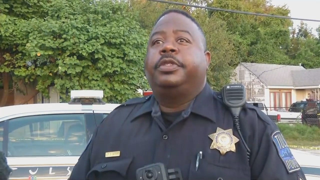 WEB EXTRA: Tulsa Police Sgt. Dedlorn Sanders Talks About The Shooting