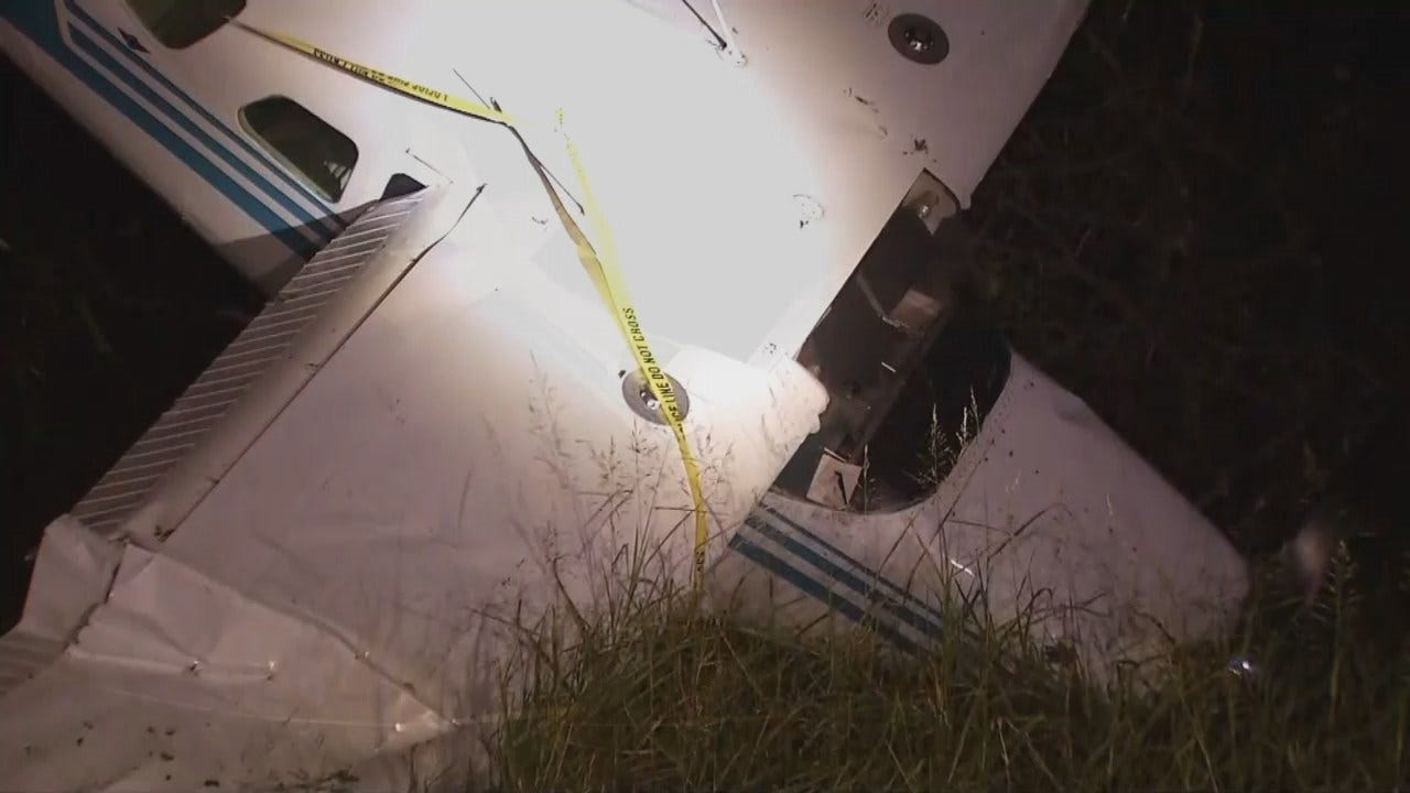 WEB EXTRA: Video From Scene Of Wagoner County Airplane Crash