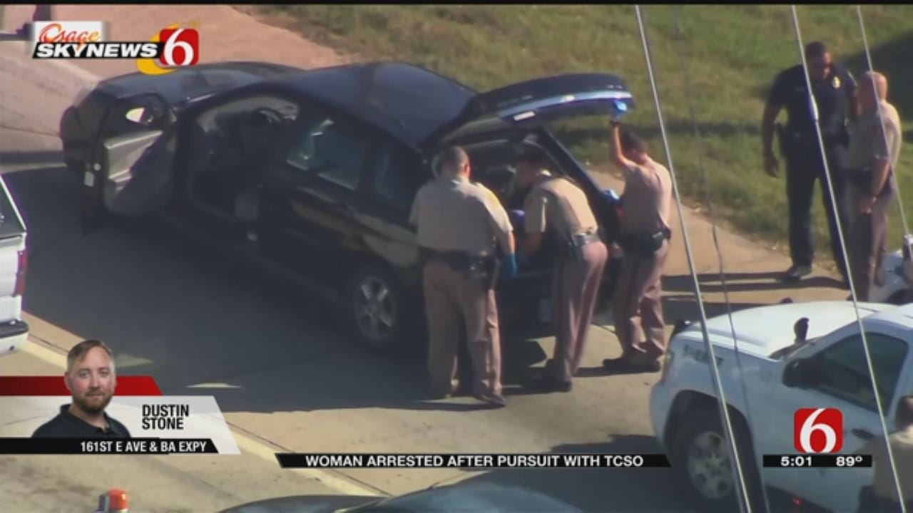 Driver Arrested After Chase Involving Tulsa County Sheriff's Office