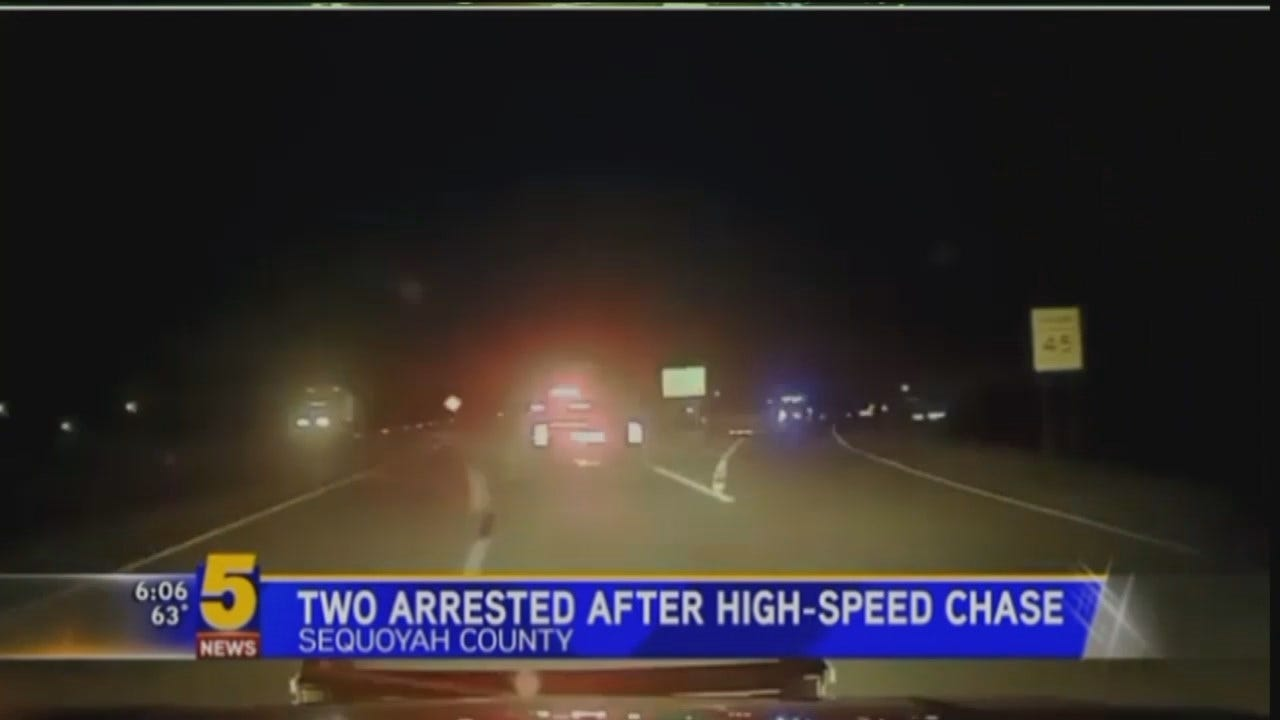 WEB EXTRA: Dash Cam Video Of The Chase [KFSM]