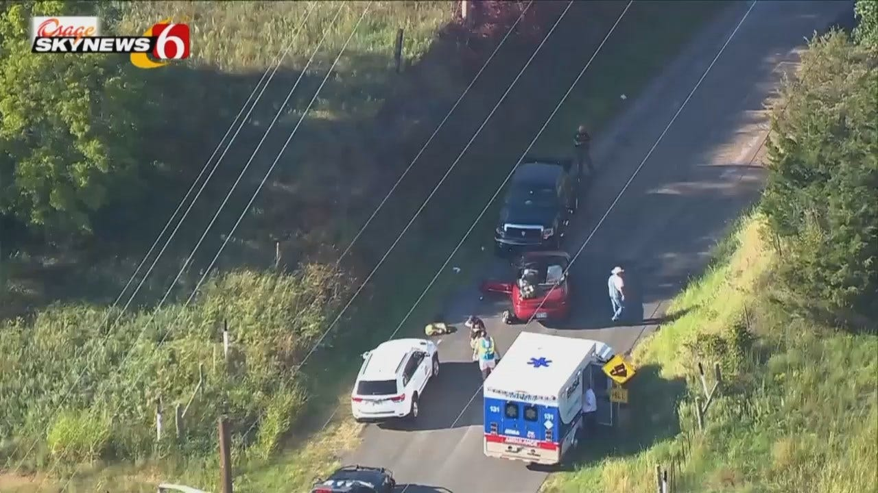 Osage SkyNews 6 HD Video Of Tulsa County Crash