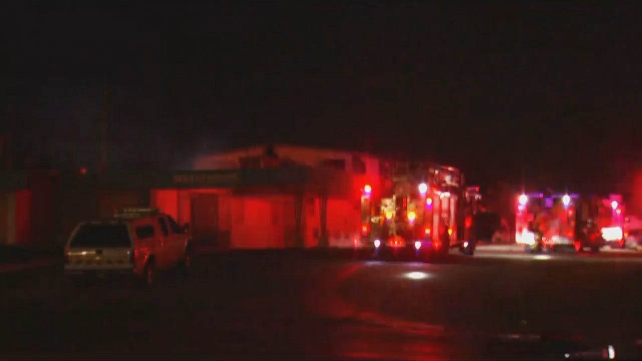 WEB EXTRA: Video From Scene Of Tulsa Building Fire