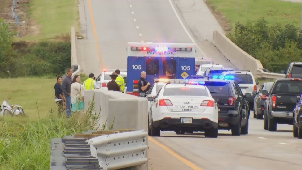 WEB EXTRA: Video From Scene Of Fatal Tulsa Highway Crash