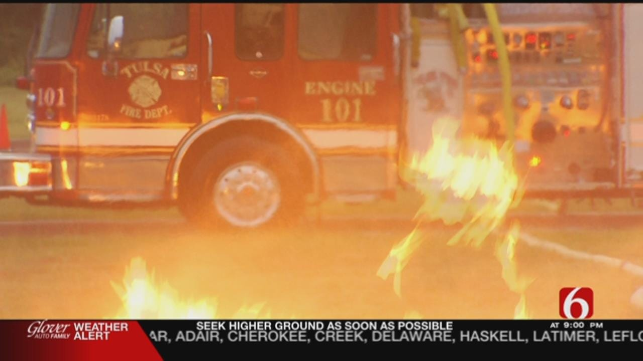 Tulsa Fire Cadets Face Live Fire Training