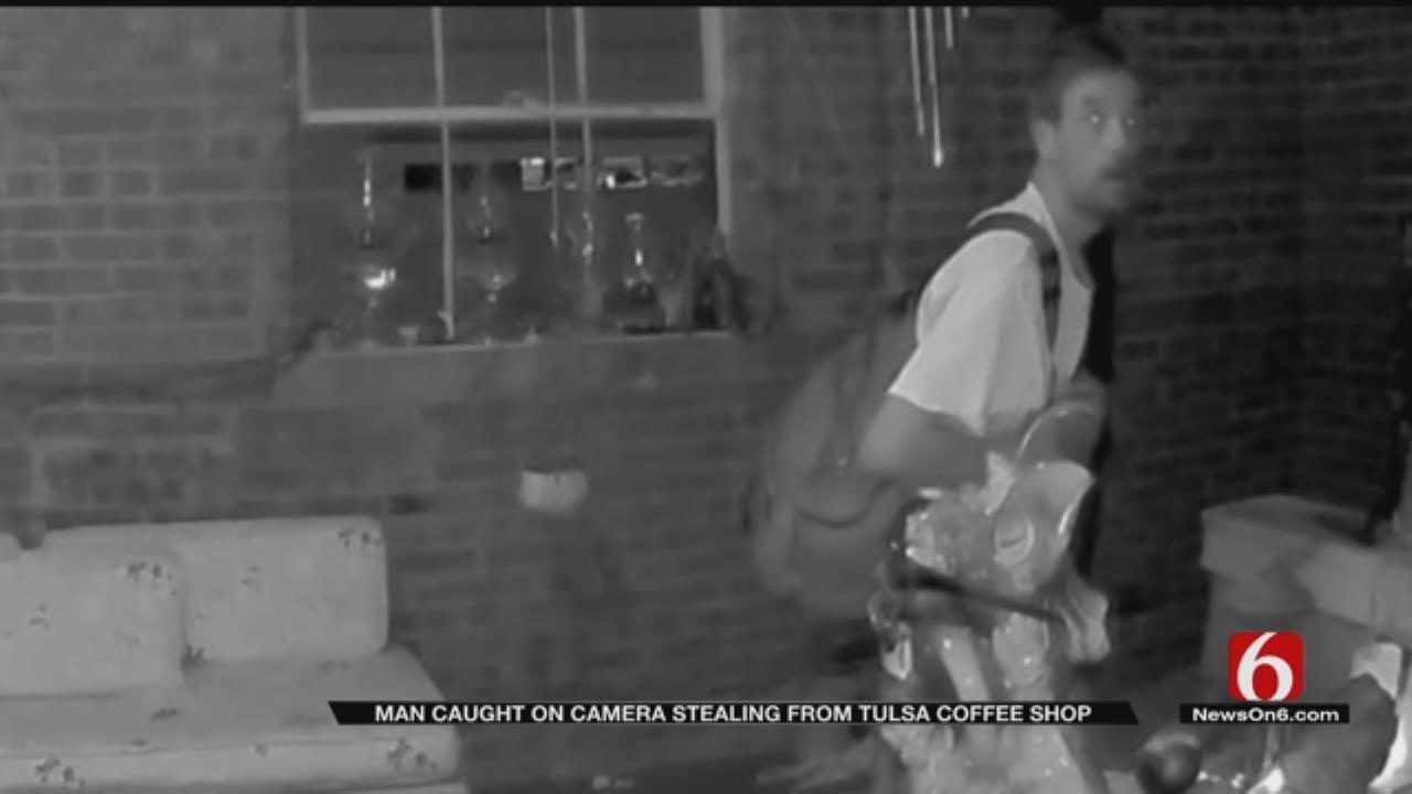 Tulsa Coffee House Thief Caught On Camera
