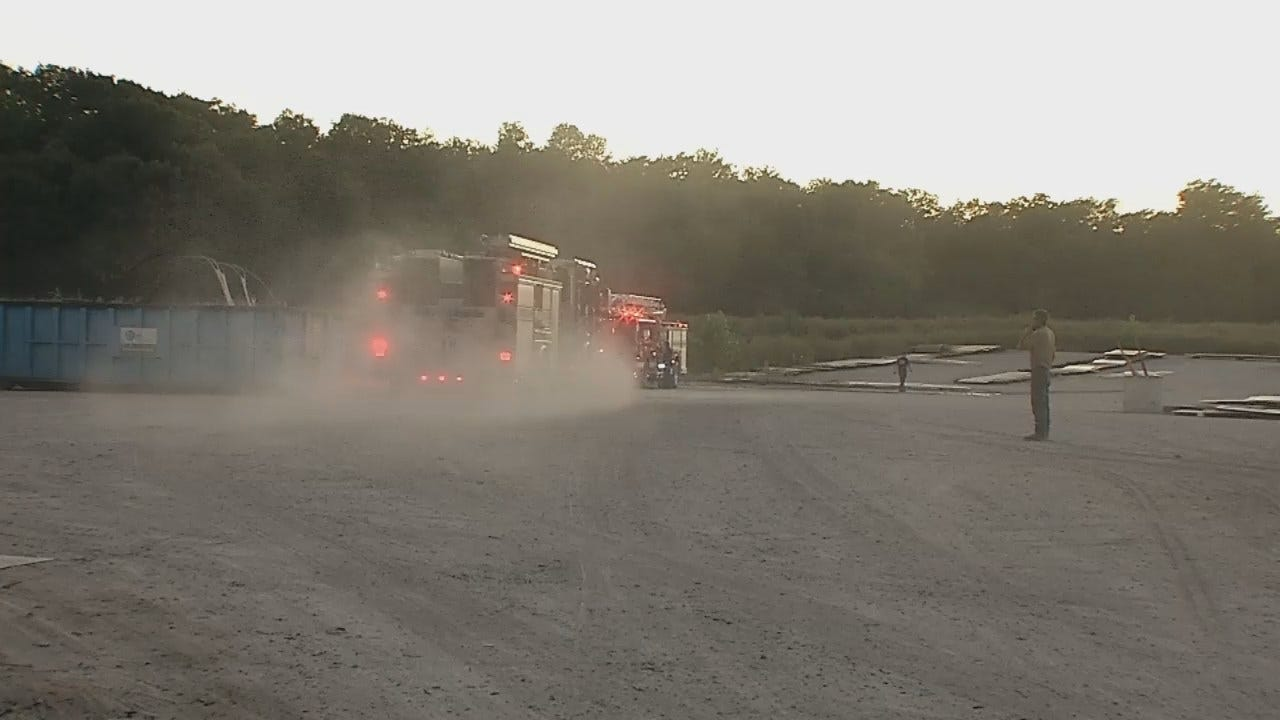 WEB EXTRA: Video From Scene Of Tulsa Grass Fire