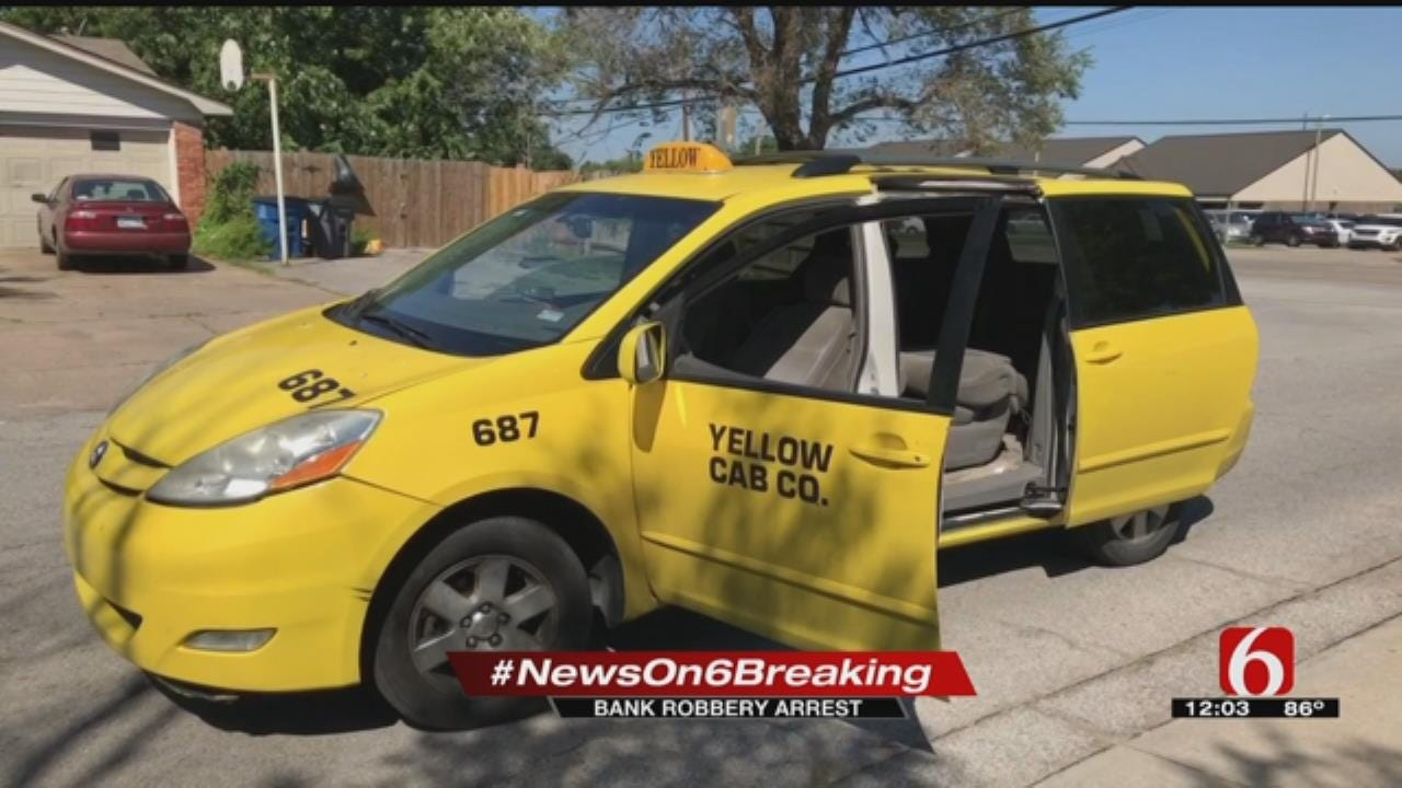 Tulsa Bank Robbery Suspect Calls Taxi To Get Away