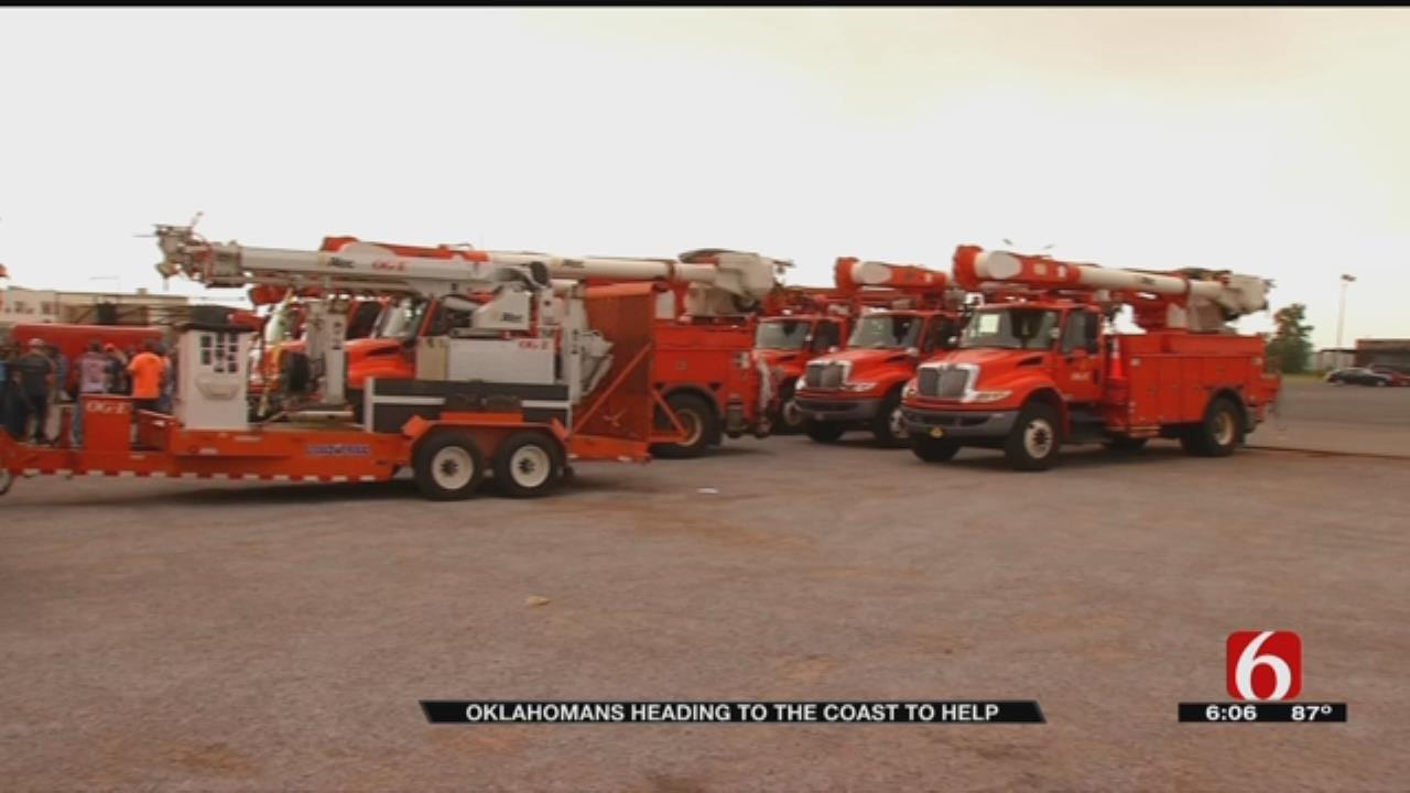 Oklahoma Crews Prepare To Help East Coast Hurricane Victims