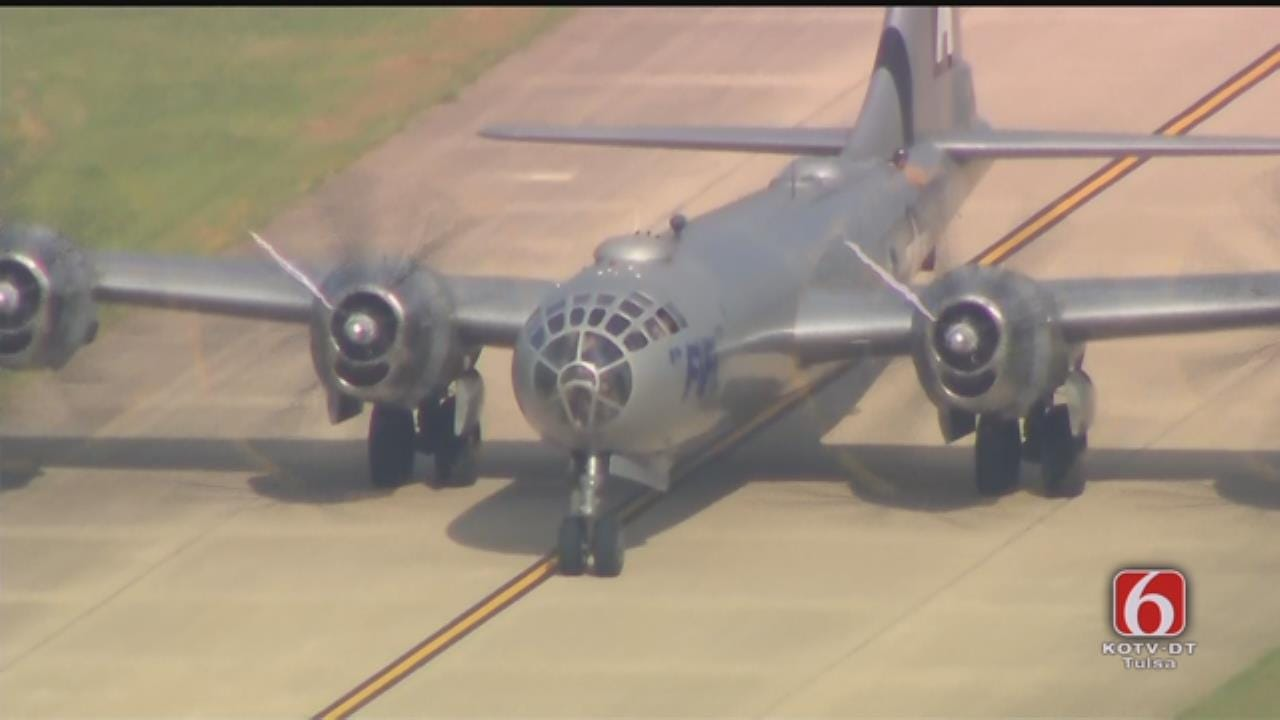 'FIFI' The B-29 Visits Tulsa, From Osage SkyNews 6 HD