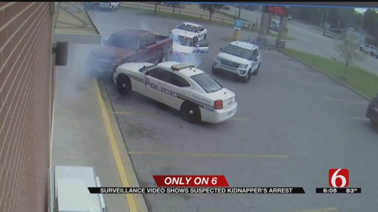 Video Shows Coweta Kidnapping Suspect Try To Escape Police