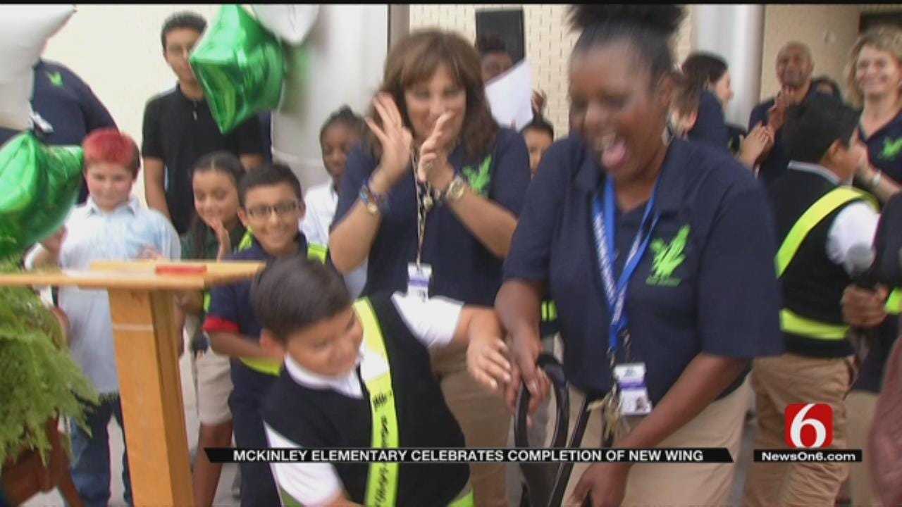 TPS Cuts Ribbon For McKinley Elementary School's New Wing