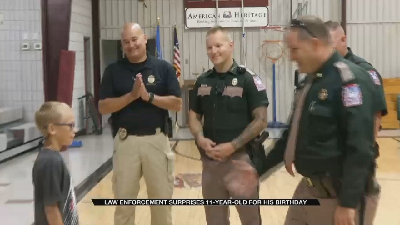 Sapulpa Police Surprise Young Boy With Dream Birthday Present