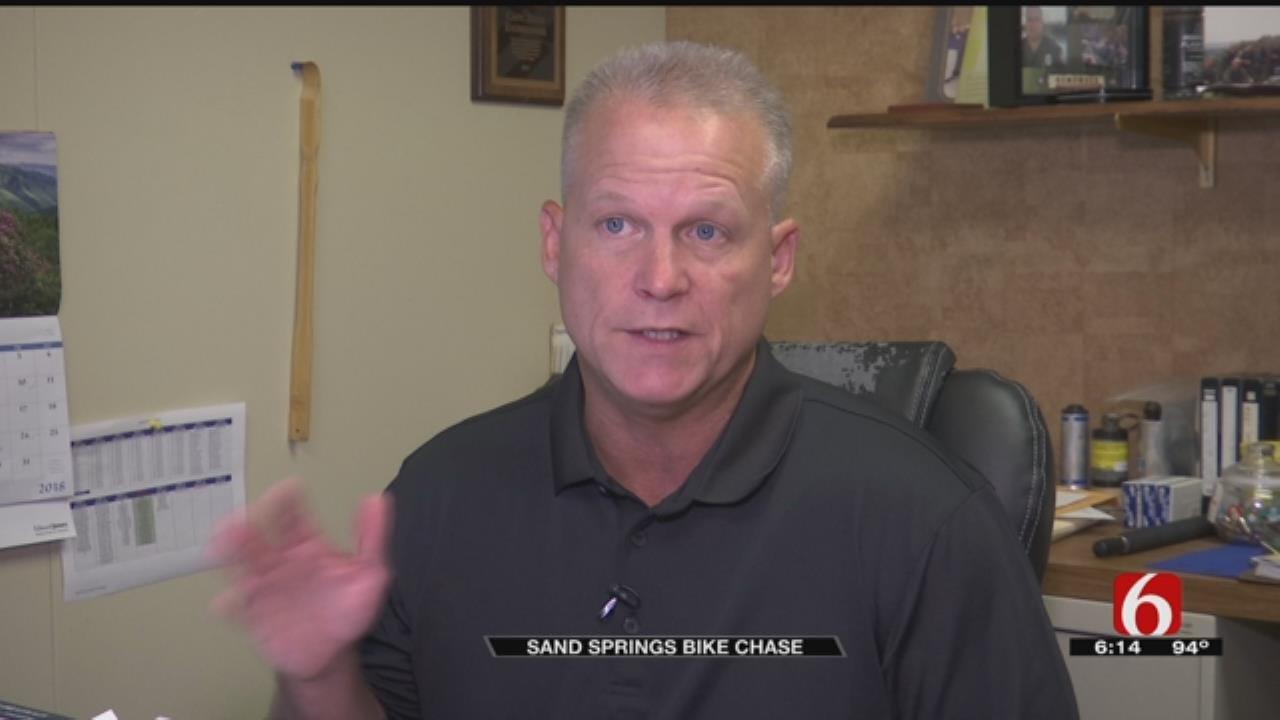 Sand Springs Man Arrested After Motorized Pedal Bike Chase