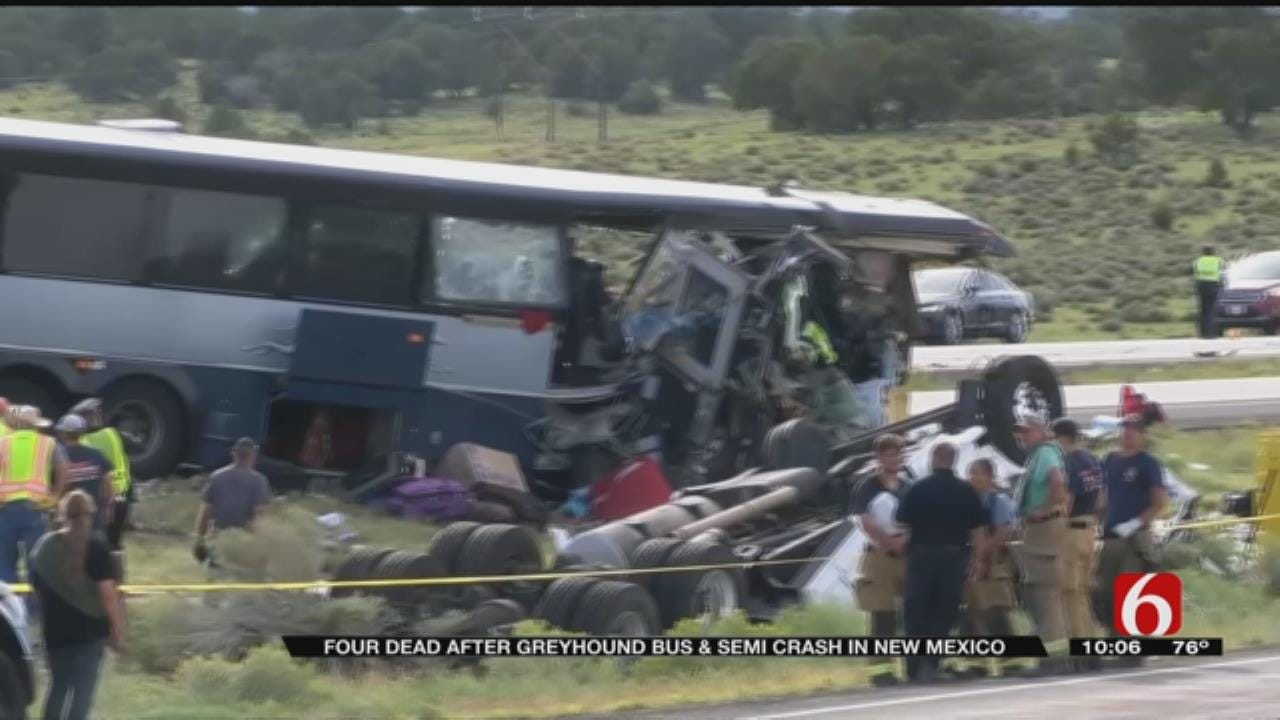Bus That Crashed In New Mexico, Killing At Least 6, Made Stop In Tulsa