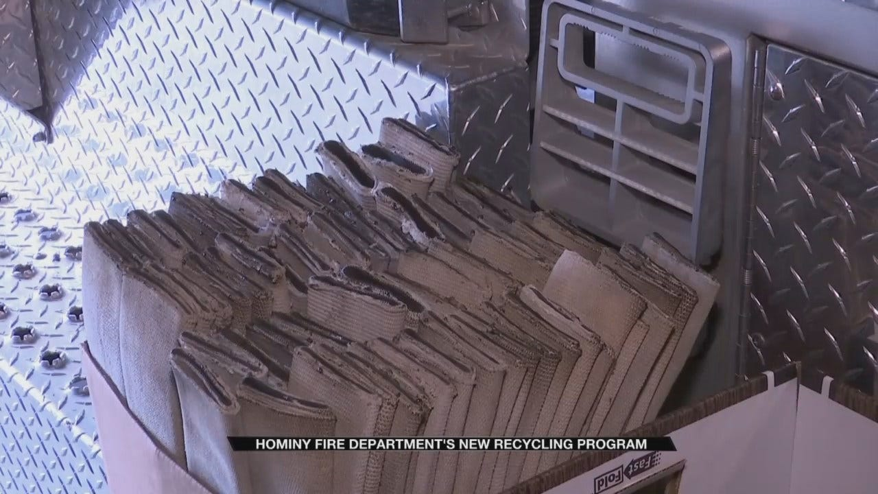 Hominy Fire Department Using Old Fire Hose To Protect Schools