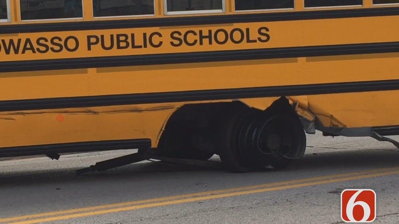 One Adult Hurt In Owasso School Bus Crash
