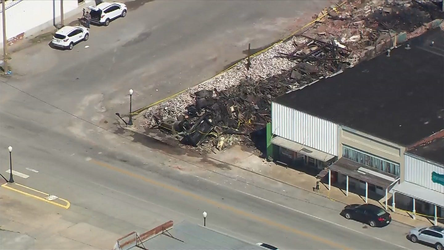 Only Rubble Remains After Downtown Locust Grove Fire