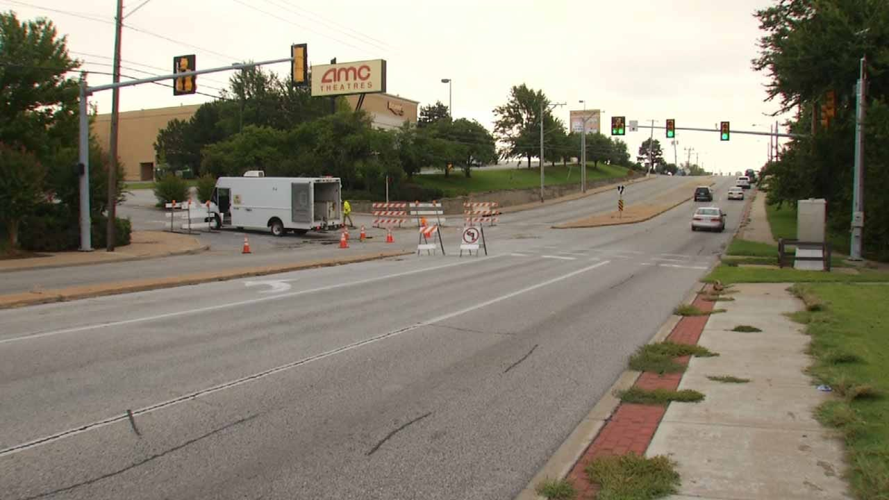 City Repairing Tulsa Road That Buckled During Storm