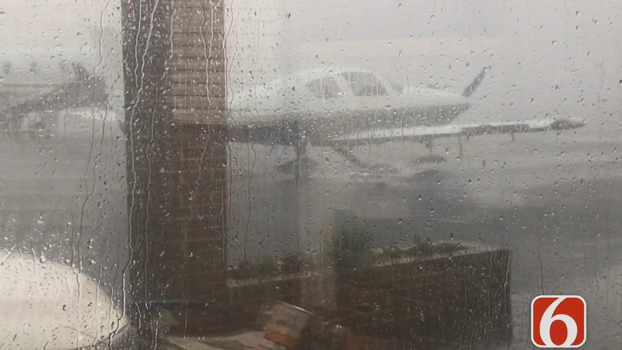 High Winds Make Plane 'Dance' At Jones Riverside Airport In Jenks