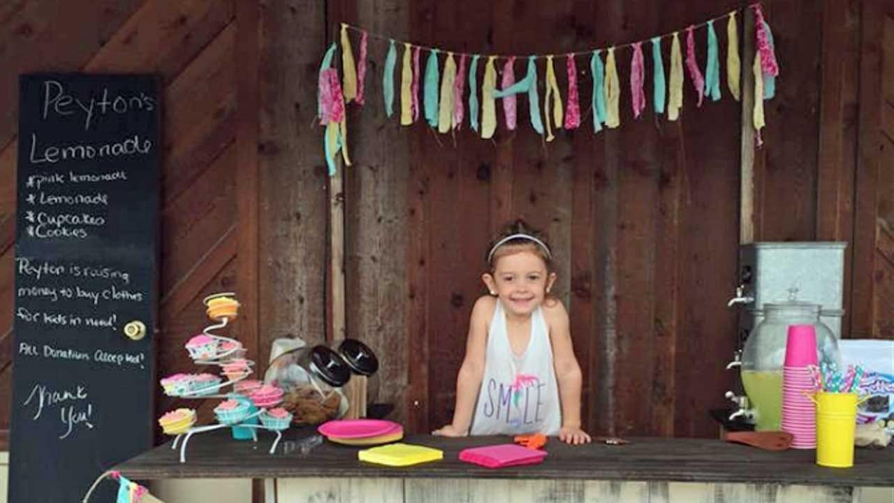 Tess Maune: Peyton's Lemonade Stand: Oklahoma Girl Raises Money For Foster Kids