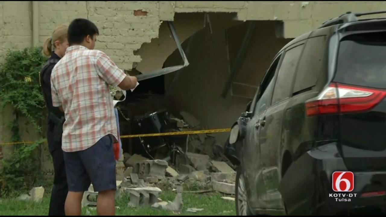 WEB EXTRA: SUV Slams Into Tulsa Church