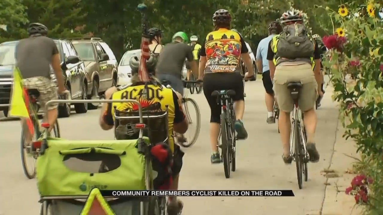 Friends Remember Tulsa Cyclist With Memorial Bike Ride