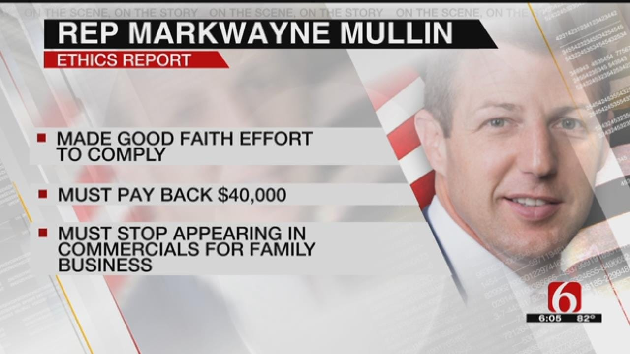 House Ethics Committee Says Rep. Mullin Must Return $40,000